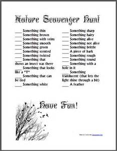 Backyard Scavenger Hunt Ideas Nature Scavenger Hunt Free Homeschool Den