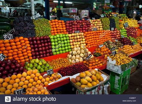 fruit market peru chiclayo fruit market stock photo royalty free