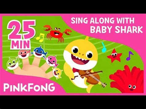 baby shark youtube compilation shark finger family more sing along with baby shark