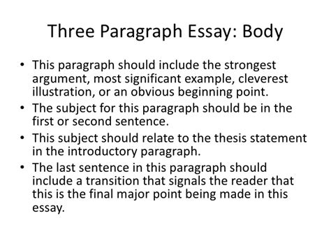 a thesis statement should include three paragraph essay