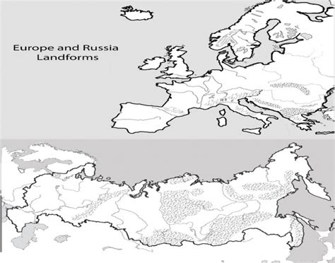 russia physical geography map quiz europe and russia physical geography