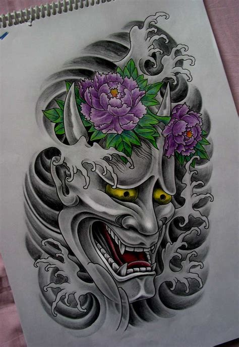 white hannya mask tattoo hannya tattoo by terokiiskinen deviantart com on