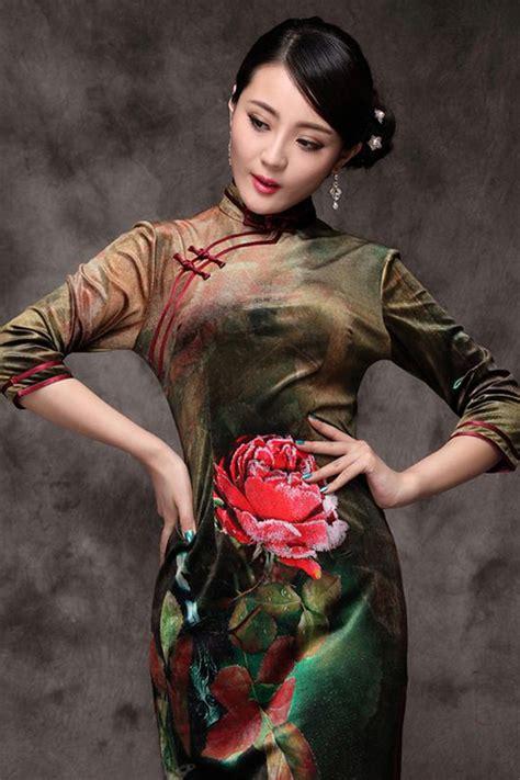 Cheongsam Modernreal Pict Modelblue gorgeous in qipaos th蘯ソ gi盻嬖 d 226 n ch譯i