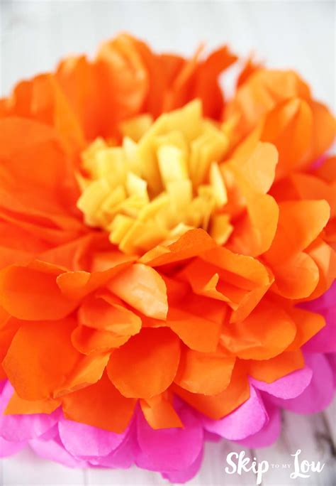 How To Use Tissue Paper To Make Flowers - how to make tissue paper flowers skip to my lou