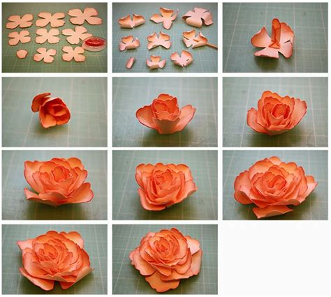 How To Make A Flower Out Of Construction Paper - bits of paper 3d sunblest and paper tea roses