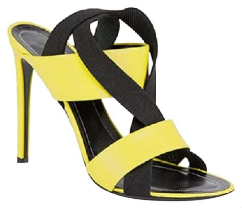balenciaga neon yellow sandals on sale 47 sandals on sale