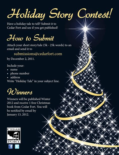 christmas contest voting flyer call for submissions contest cedar fort publishing media