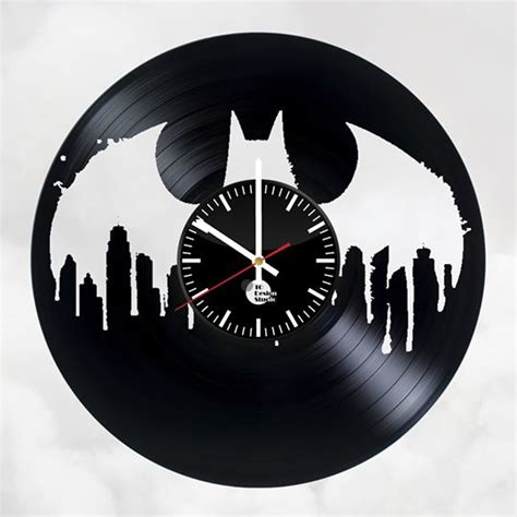 Wall Clock Handmade - batman trilogy handmade vinyl record wall clock fan gift
