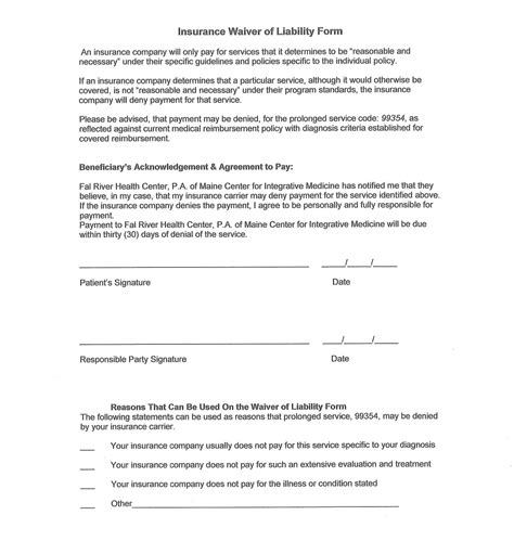 Release And Waiver Of Liability Agreement Free Printable Documents Release Contract Template
