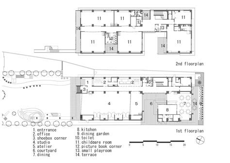 floor plan for preschool hanazono kindergarten and nursery hibinosekkei youji