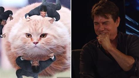 tom cruise meme tom cruise reacts to his tom cruise clinging meme for