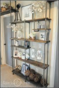 Plumbing Pipe Bookcase Remodelaholic Build A Budget Friendly Industrial Shelf