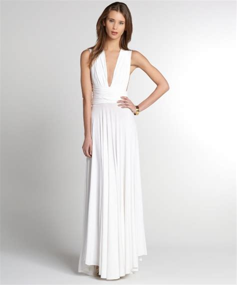 Butter by nadia white jersey ball gown wrap dress bluefly up to 70 off designer brands
