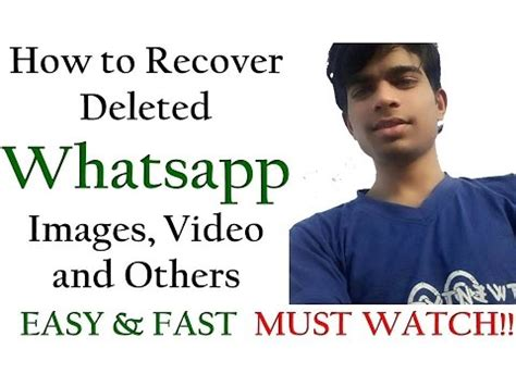tutorial how to restore deleted whatsapp messages on how to get recover deleted messages on whatsapp 100