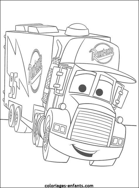 Coloriage Camion Remorque - OHBQ.info