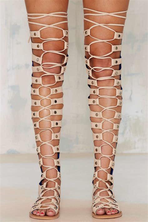 Sandal Preloved Gladiator 1 lyst jeffrey cbell olympus leather gladiator sandal in