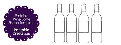 printable wine bottle shape template