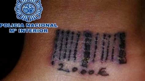 barcode tattoo fail prostitution ring in madrid tattooed 19 year old woman
