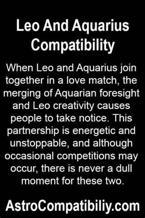 when leo and aquarius join together in a love match