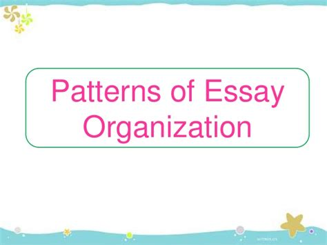 Essay Patterns by Patterns Development Essay Writing Euthanasiapaper X Fc2