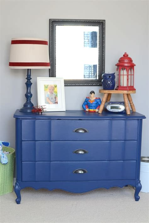 Painted Blue Dresser by The Frugal Homemaker Your Guide To Turning Your House