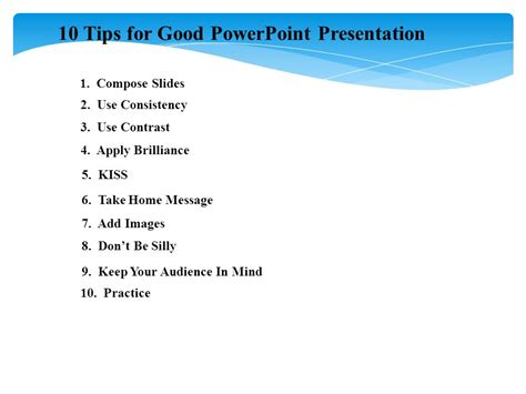 10 tips for powerpoint presentation ppt