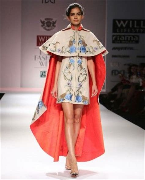 cape designs floral embroidered cream cape dress by samant chauhan