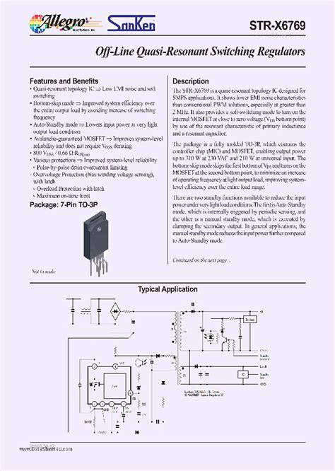 Str X6429 strx6769 293869 pdf datasheet ic on line