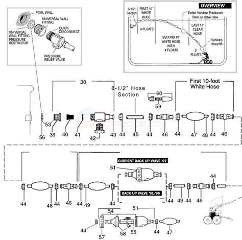 polaris 380 parts diagram polaris 380 hose assembly parts inyopools
