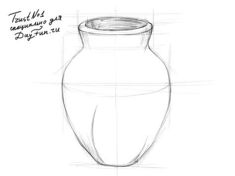 как нарисовать вазу карандашом поэтапно