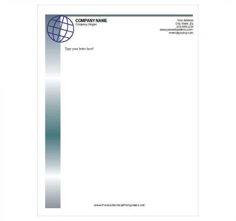 letterhead template word format