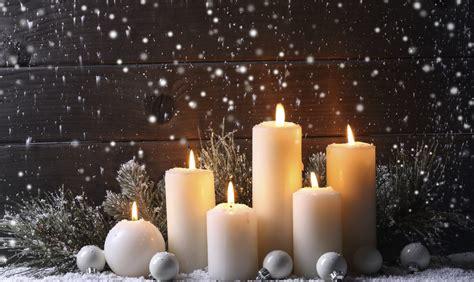 decoracion navidena  velas ideas  centros de mesa