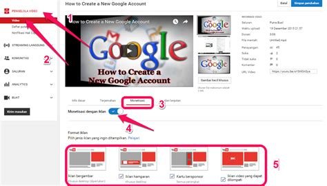 cara upload video di youtube menghasilkan uang cara menghasilkan uang dari youtube portabs