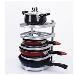 Pan Stand Racks 5 Floor Pan And Pot Organizer Rack Plate Kitchen Rack