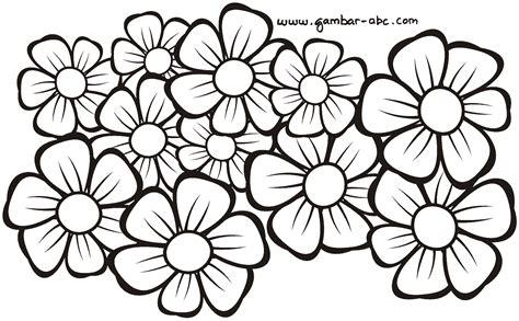 mewarnai gambar motif bunga