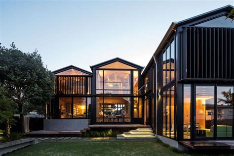 steel and glass house designs house with 3 glass gables faced with operable louvers