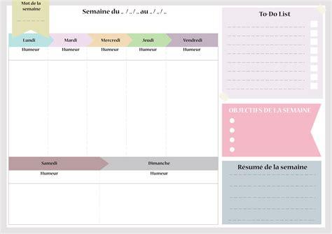 Calendrier Canva Planning De Semaine Et Agenda 224 Imprimer Gratuitement