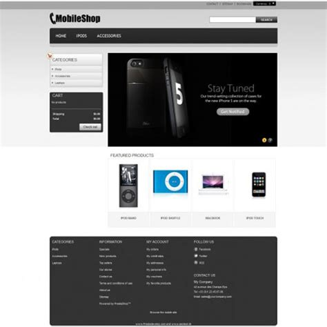 mobile themes prestashop download free prestashop store themes