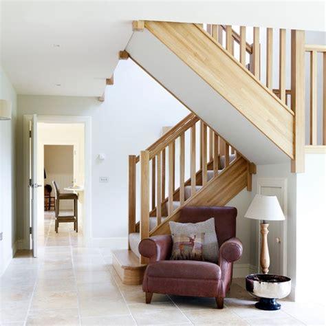 Open Plan Kitchen Hallway by Open Plan Hallway With Limestone Flooring Housetohome Co Uk