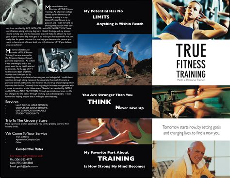personal brochure templates personal trainer quotes brochure the gymhouse