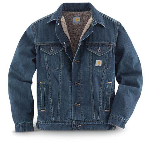 Denim Jacket carhartt sherpa lined denim jean jacket authentic blue