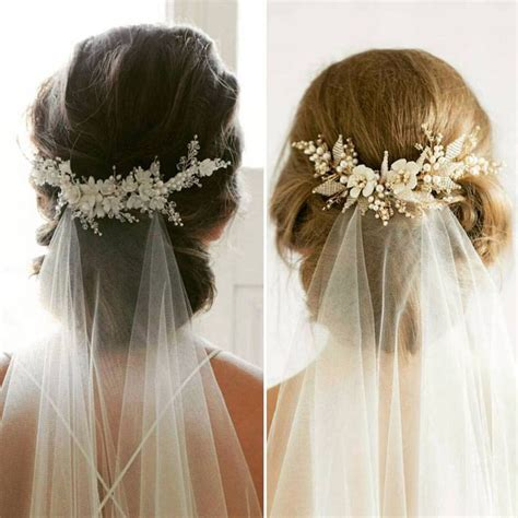 Wedding Day Hairstyles For Medium Hair by Wedding Veil With Hair Up Style Inspo Hairstyles