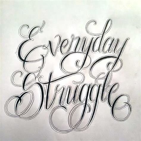 everyday struggle tattoo design