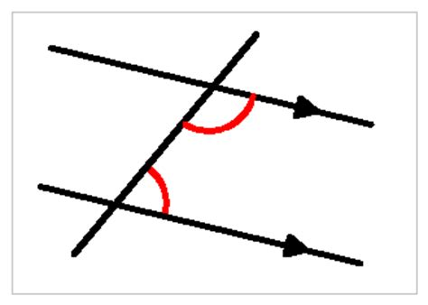 Interior Angles On Parallel Lines by Parallel Lines
