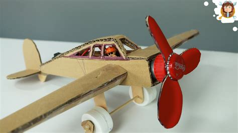 How Do You Make A Airplane Out Of Paper - how to make a plane with dc motor cardboard plane