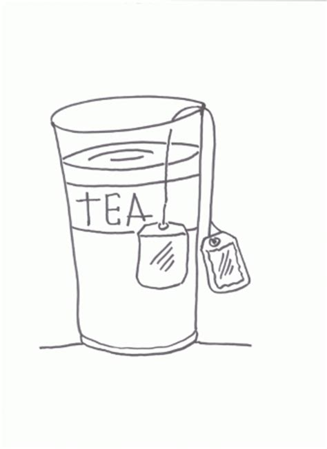 Glasses Coloring Pages For Free Tea Coloring Pages
