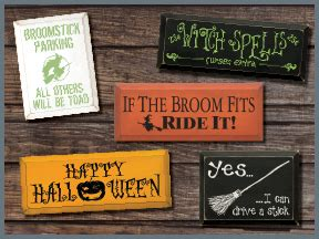 wooden signs holiday signs seasonal signs halloween