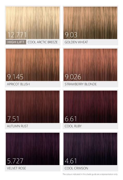 chart infinity affinage salon professional infiniti 174 the opulence