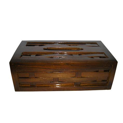 Kerajinan Kayu Jati Tempat Cantolan Baju kerajinan kayu jati tempat tissu anyaman elevenia