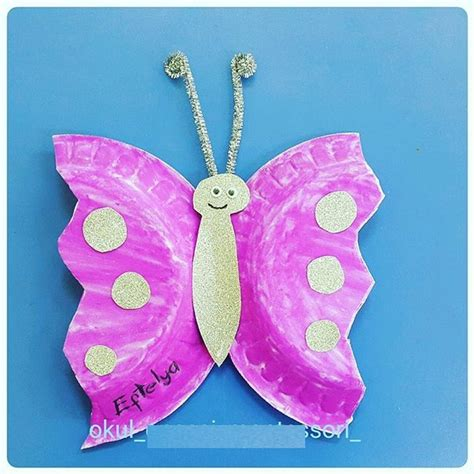 Paper Plate Butterfly Craft - preschool crafts and worksheets